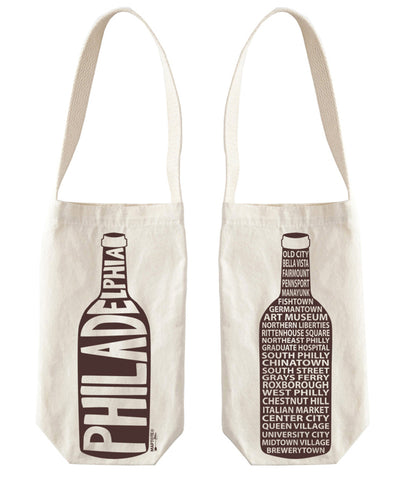 """Philadelphia"" Wine Tote, Canvas"