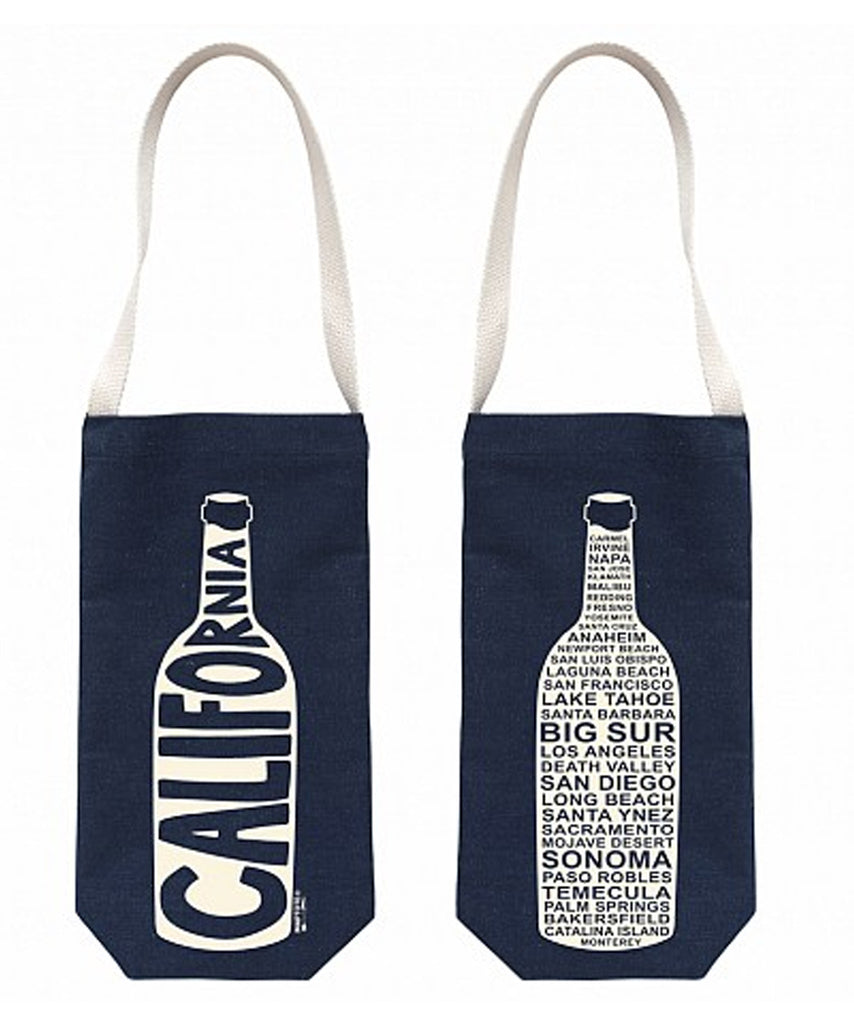 """California"" Wine Tote, Denim - High Street Market"