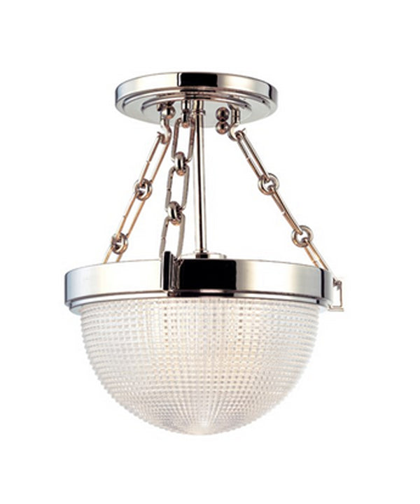 Winfield Semi-Flushmount, Polished Nickel