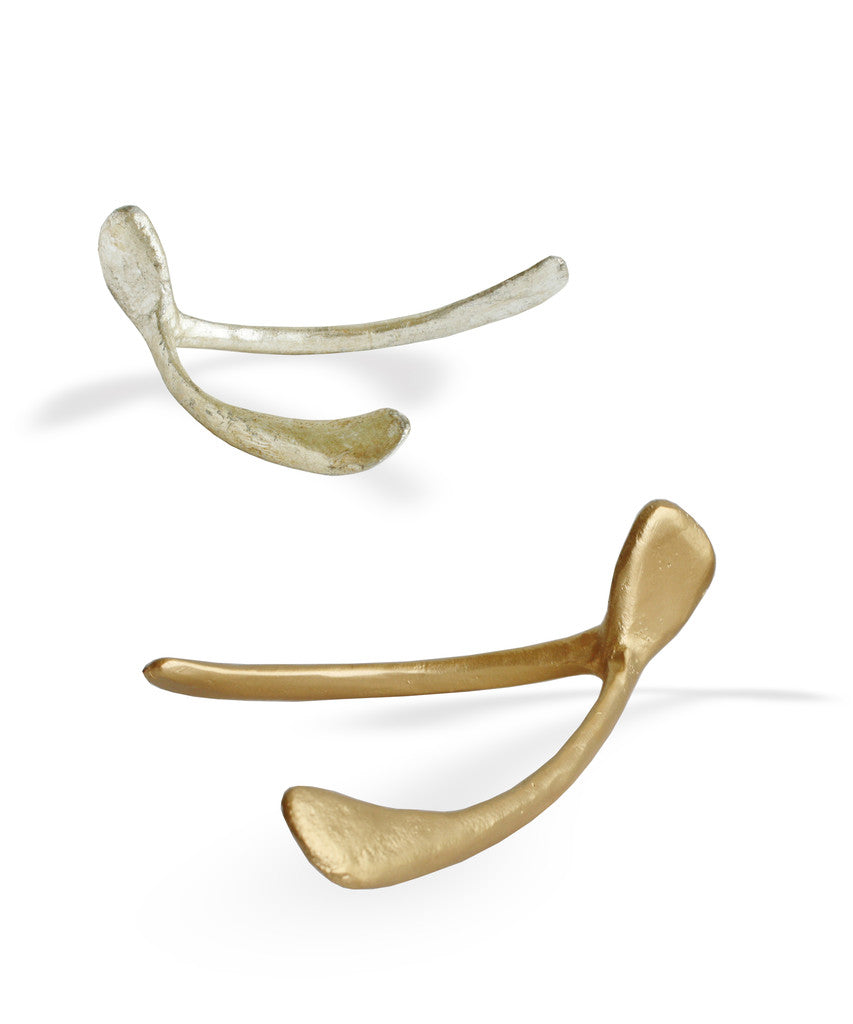 Large Wishbone, Gold or Silver