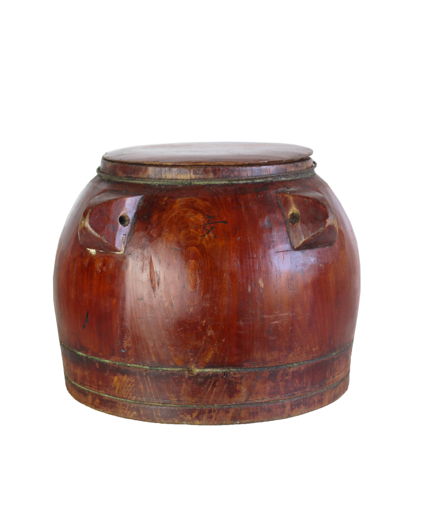 Antique Wooden Rice Container