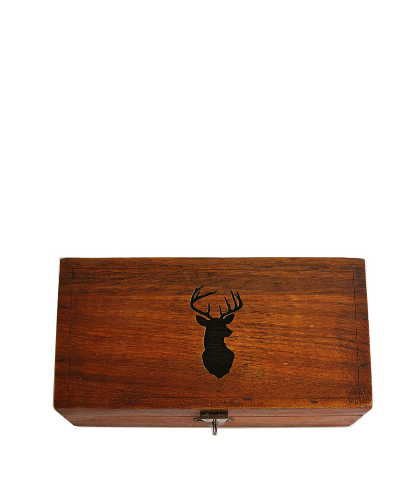 Whitetail Deer Etched Wooden Box High Street Market
