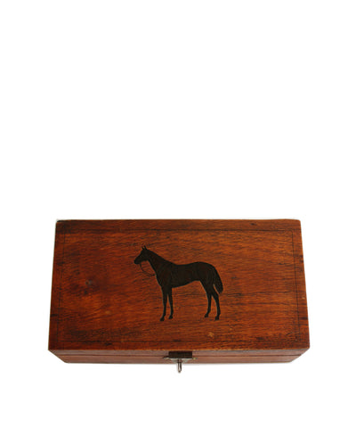 Thoroughbred Horse, Etched Wooden Box