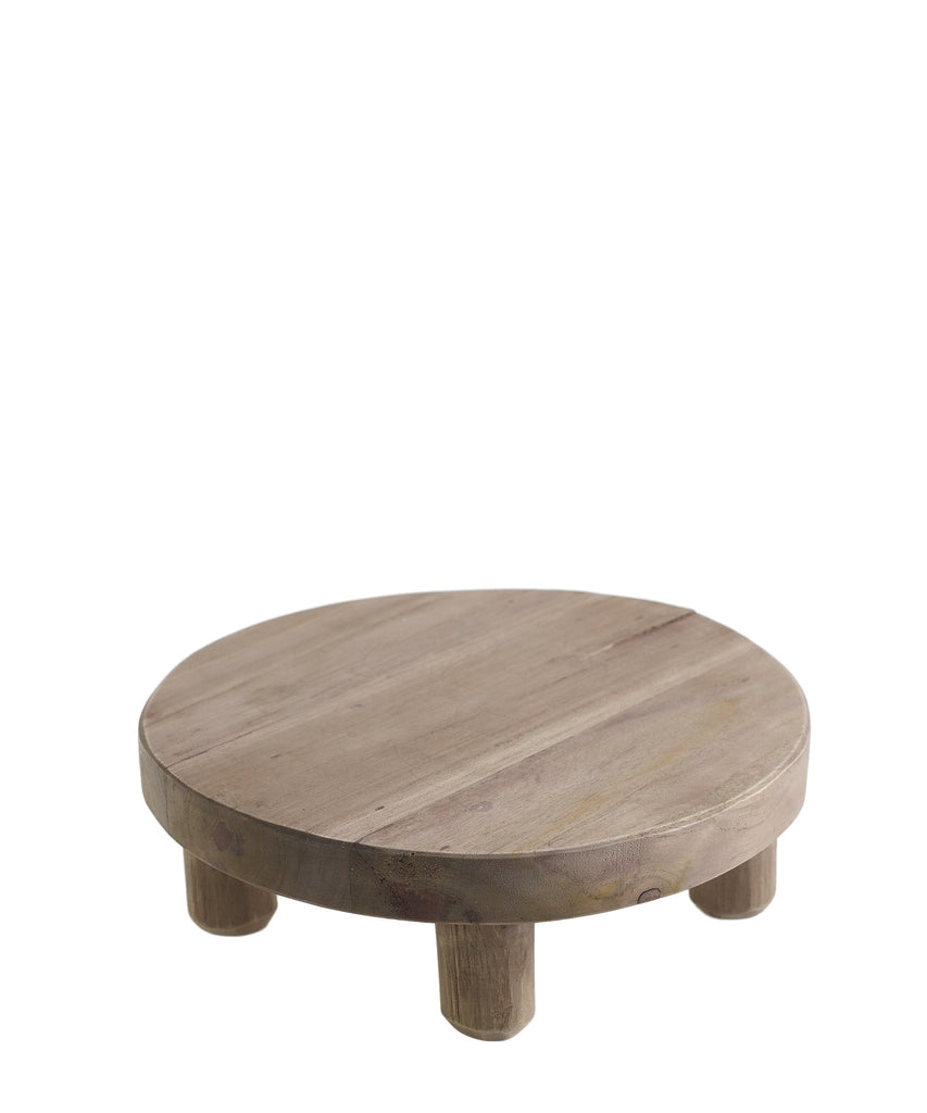 Footed Wood Platter