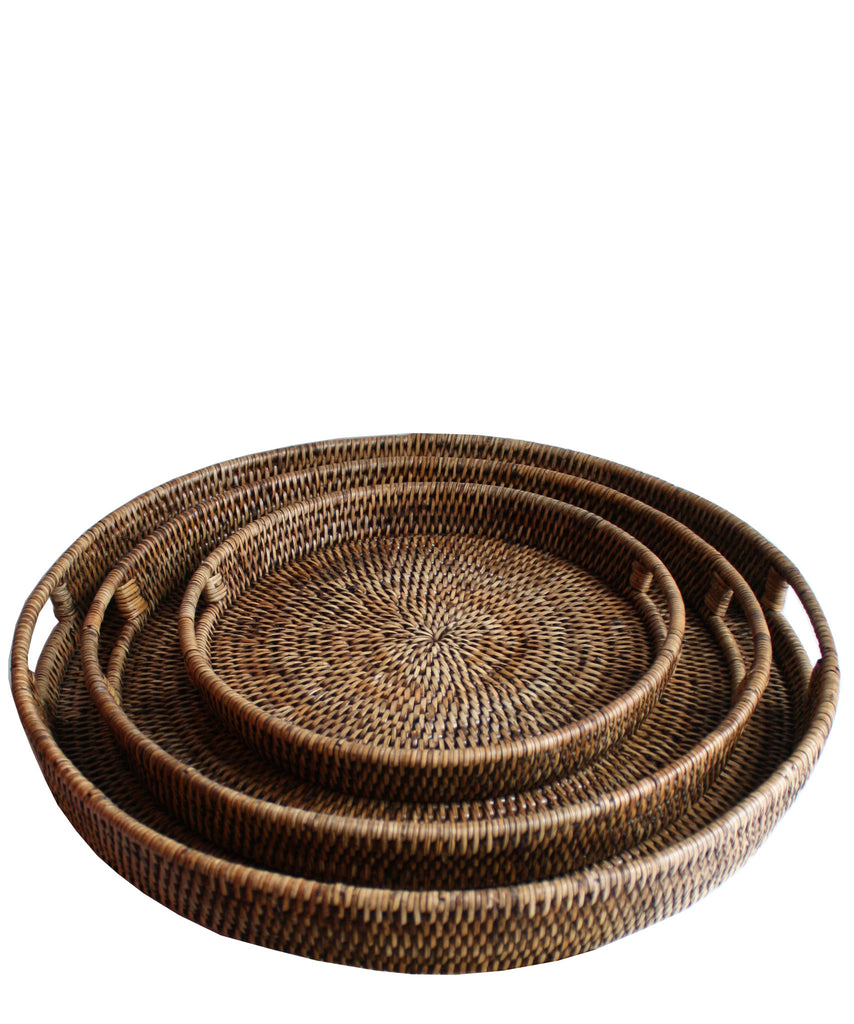 Greatest Round Woven Serving Trays (3 sizes available) – High Street Market PR52