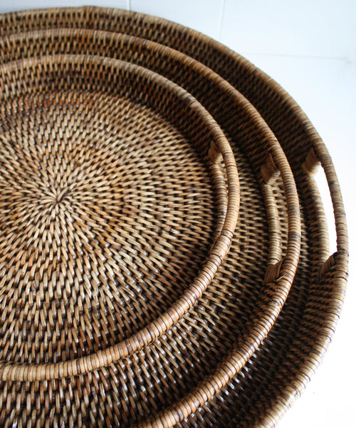 Completely new Round Woven Serving Trays (3 sizes available) – High Street Market XL74
