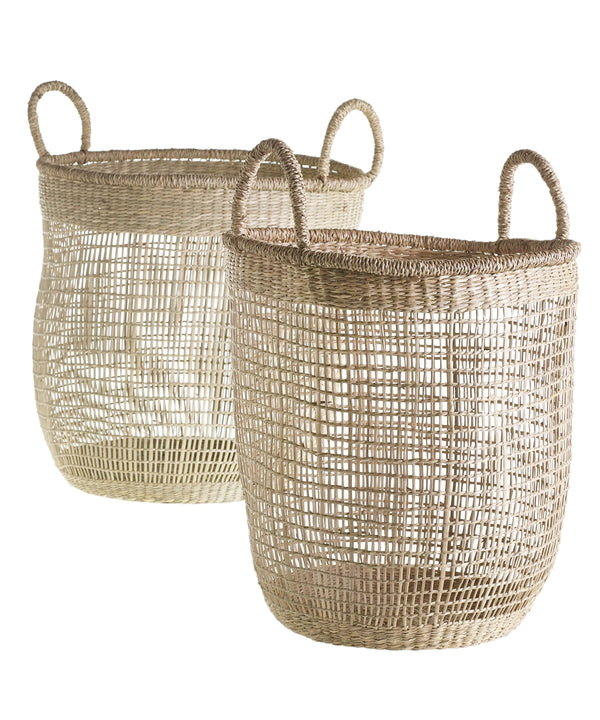 Netted Woven Sea Grass Baskets