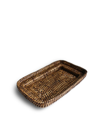Small Woven Tray, Brown