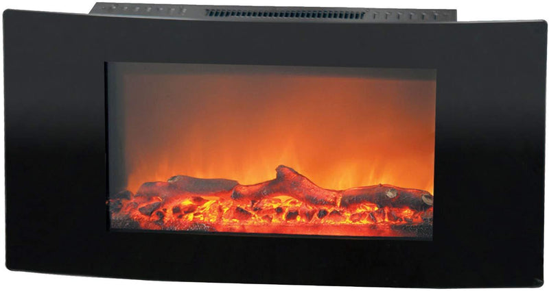 Cambridge CAM35WMEF-2BLK Callisto 35 in. Wall-Mount Electric Fireplace, Black Heaters|Fireplace My Home Climate Black