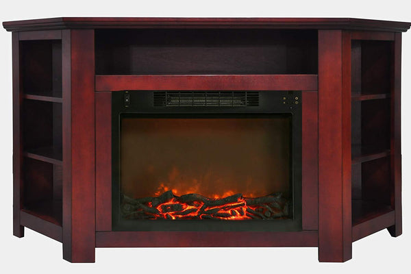 Cambridge CAM5630-1CHR 1500W Stratford 56 in. Electric Corner Fireplace with Fireplace Insert, Cherry Heaters|Fireplace My Home Climate
