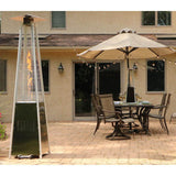 Hanover 42,000 BTU 7-Ft. Pyramid Propane Patio Heater in Stainless Steel Heaters|Patio Heaters My Home Climate