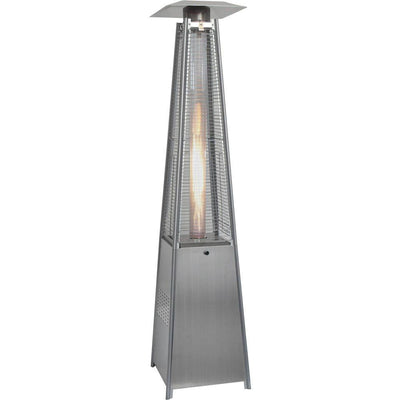 Hanover 42,000 BTU 7-Ft. Pyramid Propane Patio Heater in Stainless Steel Heaters|Patio Heaters My Home Climate Stainless Steel