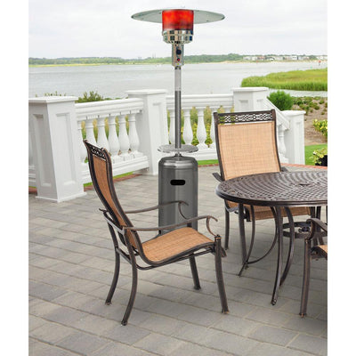 Hanover HAN003SS 41000 BTU Umbrella Propane Gas Patio Heater, Stainless Steel Heaters|Patio Heaters Hanover