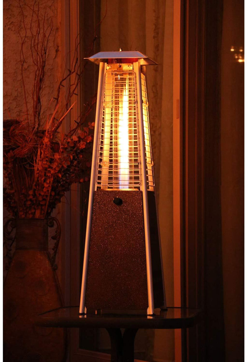 Hanover HAN0202HB 9500 BTU Mini Pyramid Tabletop Propane Patio Heater, Hammered Bronze Heaters|Patio Heaters Hanover