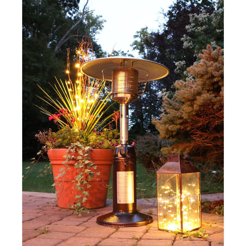 Hanover HAN0204HB 11000 BTU Mini Umbrella Tabletop Propane Patio Heater Heaters|Patio Heaters Hanover Bronze