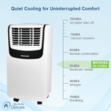 Honeywell 10000 BTU 3-in-1 Quiet Portable Air Conditioner with Remote Control (Compact Series) Portable Air Conditioner Honeywell