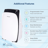 Honeywell 14000 BTU 3-in-1 Portable Air Conditioner with 111 Pint Dehumidifier (Contempo Series) Portable Air Conditioner Honeywell
