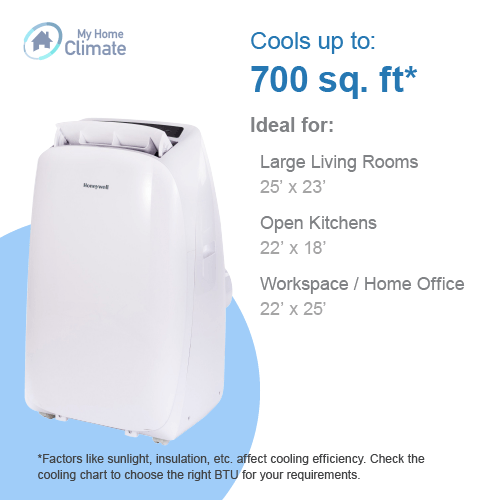 Contempo Series 14000 BTU Portable Air Conditioner with Heat Pump Portable Air Conditioner Honeywell
