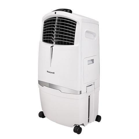 Honeywell CL30XCWW 525CFM 320 sq. ft. Indoor Evaporative Air Cooler with Remote Control, White Evaporative Air Cooler Honeywell