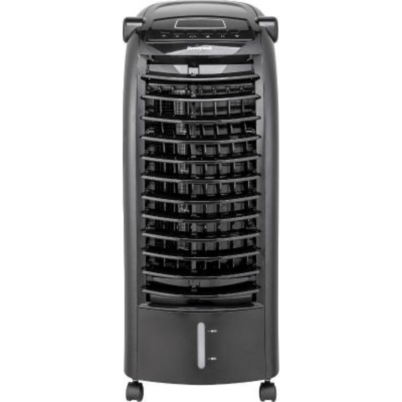 Honeywell CS074AEKK 200CFM 120 sq. ft. Indoor Evaporative Cooler with Ice Packs, Black, Black Evaporative Air Cooler Honeywell