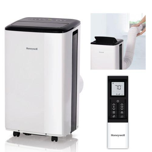 Honeywell HF08CESWK 8000 BTU 350 sq. ft. Portable Air Conditioner with 76 Pint Dehumidifier, White Portable Air Conditioner Honeywell