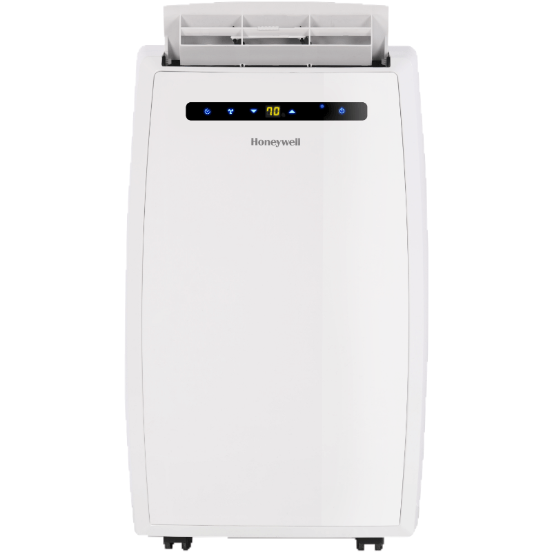 Honeywell MN12CEDWW 12000 BTU 550 sq. ft. Quiet Dual Hose Portable Air Conditioner with 69 Pint Dehumidifier (Classic Series), White Portable Air Conditioner Honeywell White