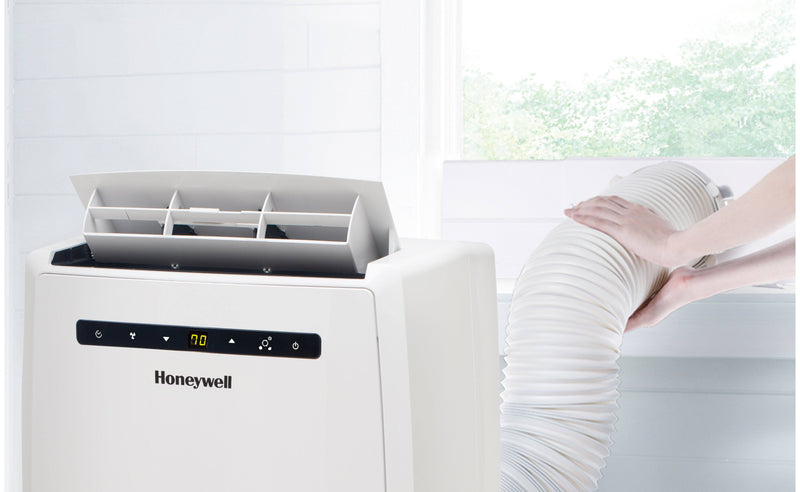 Honeywell MN12CHESWW 12000 BTU 550 sq. ft. Quiet Portable Air Conditioner with 68 Pint Dehumidifier and Heat Pump (Classic Series) Portable Air Conditioner Honeywell