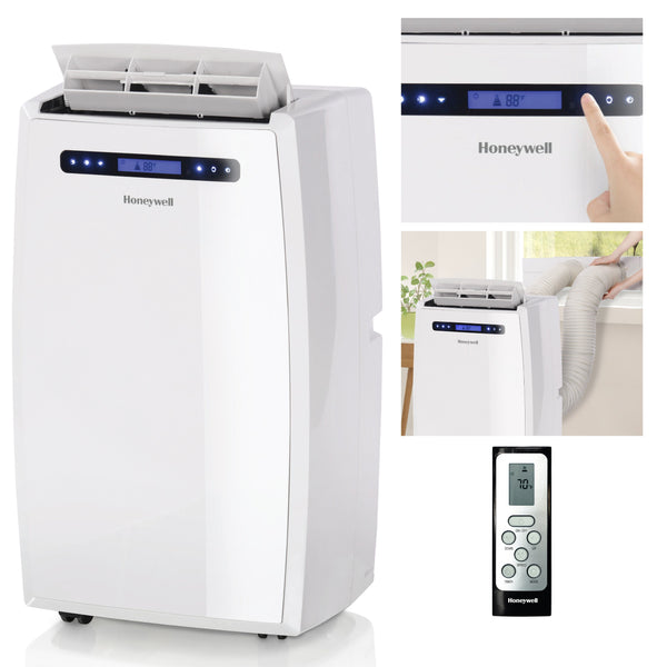 Honeywell MN14CCDWW 14000 BTU 700 sq. ft. Dual Hose Portable Air Conditioner with 95 Pint Dehumidifier (Classic Series), White Portable Air Conditioner Honeywell
