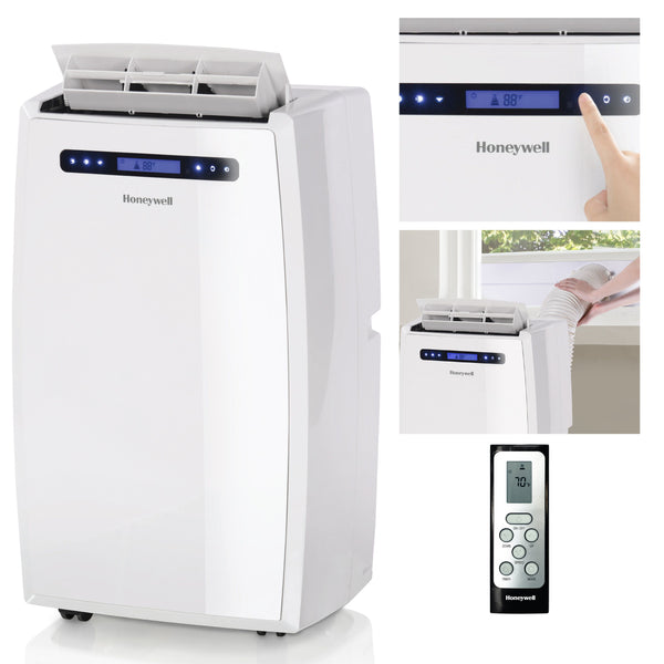 Honeywell MN14CCSWW 14000 BTU 700 sq. ft. Portable Air Conditioner with 95 Pint Dehumidifier (Classic Series), White Portable Air Conditioner My Home Climate