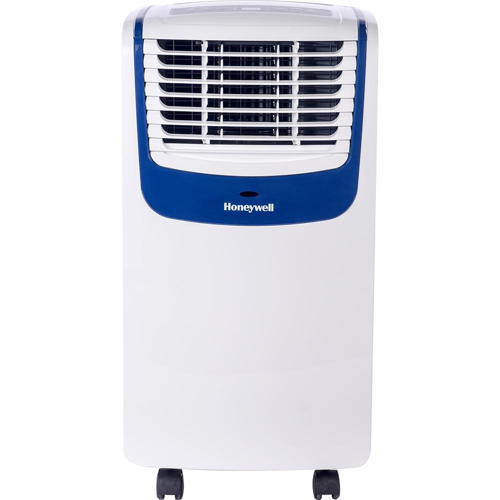 Honeywell MO10CESWB 10000 BTU 350 sq. ft. 3-in-1 Quiet Portable Air Conditioner with Remote Control (Compact Series), White/Blue Portable Air Conditioner Honeywell