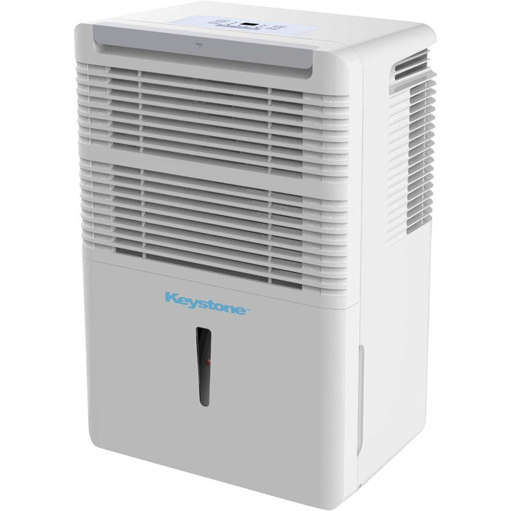 Keystone50 Pint Dehumidifier with Electronic ControlsEnergy Star 50-Pint Dehumidifier with Electronic Controls in White Dehumidifiers|Dehumidifiers Keystone