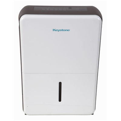 Keystone50 Pint Dehumidifier with New Body Style50-Pint Dehumidifier in White/Gray Dehumidifiers|Dehumidifiers Keystone