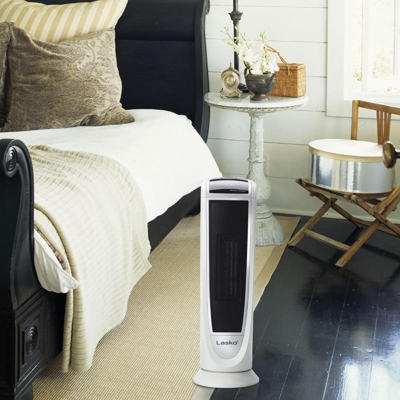 Lasko 5165 1500W Digital Ceramic Portable Tower Heater with Programmable Thermostat, White Heaters|Space Heaters Lasko