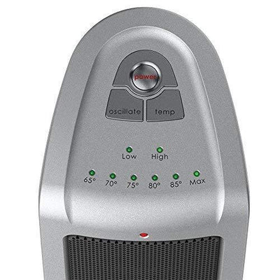 Lasko 5309 1500W Oscillating Ceramic Portable Electric Tower Heater, Silver Heaters|Space Heaters Lasko