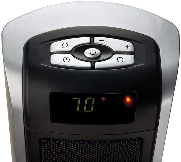 Lasko 5521 1500W Ceramic Tower Heater with Digital Display, Silver/Black Heaters|Space Heaters Lasko