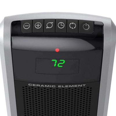 Lasko 5586 1550W Digital Oscillating Ceramic Tower Heater, Black Heaters|Space Heaters Lasko