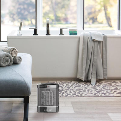 Lasko CD08500 1500W Simple Touch Ceramic Heater with Overheat Protection, Black Heaters|Space Heaters Lasko