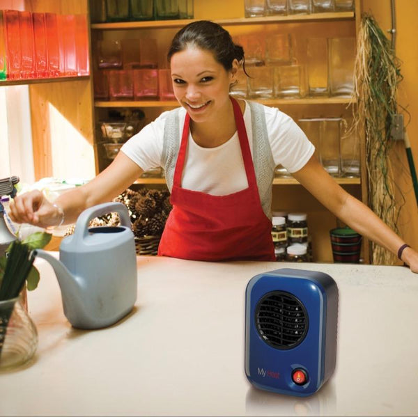 Lasko MyHeat 200W Energy-Smart Personal Ceramic Heater, Blue Heaters|Space Heaters Lasko