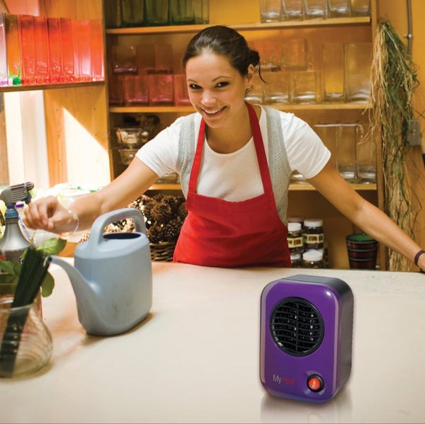 Lasko MyHeat 200W Energy-Smart Personal Ceramic Heater, Purple Heaters|Space Heaters Lasko