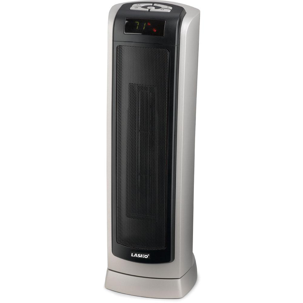 LaskoRemote Control Ceramic Tower Heater23 In. Ceramic Tower Heater with Remote Control, Silver-Gray / Black Heaters & Fans|Heaters Lasko