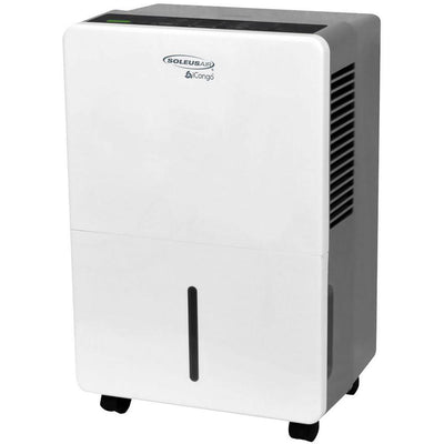 SoleusAir DS1-70E-101B 70 Pint Portable Dehumidifier, White Dehumidifier SoleusAir