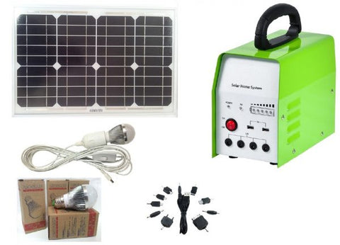 30 W Solar Generator Kit - Inc. L.E.D Light Kit and Usb Charge Cable
