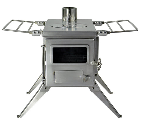 Nomad Camping stove - Medium Size / Stainless Steel