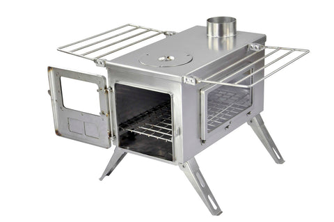 Nomad Camping stove (Double View) - Large Size / Stainless Steel