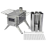 Nomad Camping stove (Double View) - Medium Size / Stainless Steel