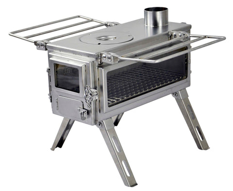 Nomad Camping stove (Double View) - Micro Size / Stainless Steel