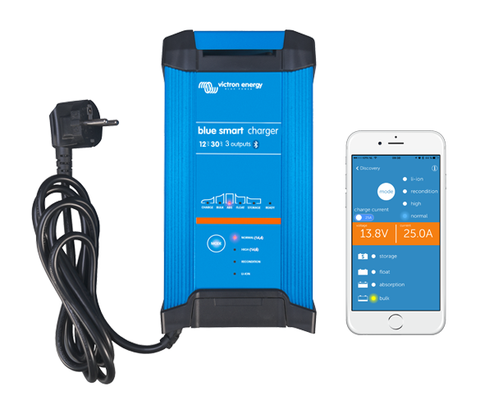 Victron Smart IP22 Battery Charger - 12 / 30 A / 230 V / 1 Outlet - Bluetooth & Lithium Compatible