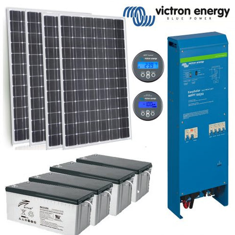 Victron 'Tiny Home' Off Grid Solar System - 1.0 Kva - 1.6 Max Kva - With 4.8 Kwh AGM Bank