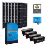 VICTRON ' Extra Cheese' OFF GRID SYSTEM ' 3.3 KW Panels - 5 KVA Inverter / 22 KWH AGM Batteries.