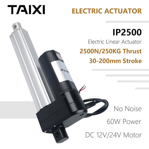 Solar Tracking Linear Actuator - IP2500 / 30mm / 50mm / 100mm / 150mm / 250KG 2500N